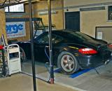 Porsche Cayman on dyno
