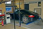Porsche Cayman on dyno